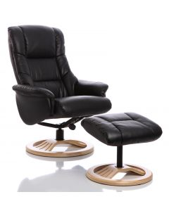 Mandalay Recliner Chair in Black