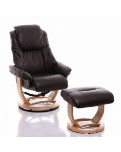 Emperor Recliner Chair in Chocolate